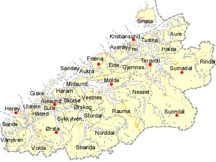 kart over aure Kart over skoler i Møre & Romsdal | Byggopp Møre & Romsdal kart over aure